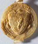 William Wallace's seal (front), Scottish Lion Rampant