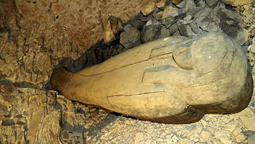 Sarcophagus of Nehmes Bastet in Valley of the Kings tomb KV64