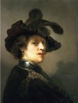 Rembrandt van Rijn, 'Tronie' of a Man with a Feathered Beret, ca. 1635