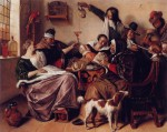 "Jan Steen, ""The way you hear it, is the way you sing it"" ca. 1665"