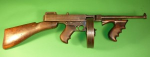 .45 caliber Thompson sub-machine gun, thought to have belonged to Bonnie and Clyde