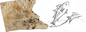 Ivory Pisces plaque