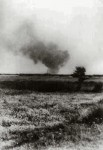 Treblinka on fire during prisoner revolt of August 2, 1943