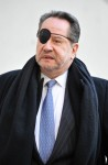 Barry Landau leaving court after copping a plea, February 7, 2012