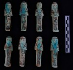 Faience shabtis found in Abydos tomb