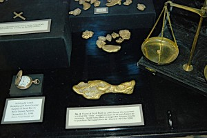 Siskiyou County Courthouse gold display in better days