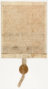 Magna Carta, 1297, after conservation