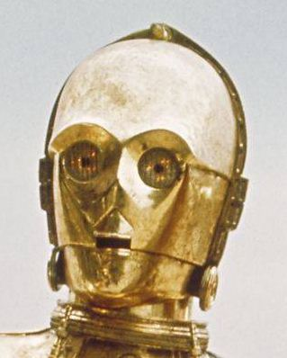 how to draw c3po face