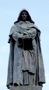 Giordano Bruno memorial statue by Ettore Ferrari