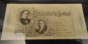 Invitation to inauguration of McKinley in 1901, stolen from Maryland Historical Society
