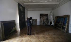 Hitler's paintings in the convent in Doksany, Czech Republic