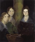 The Brontë sisters (left to right, Anne, Emily and Charlotte), ca. 1834, by their brother Branwell who painted himself out of the middle of the painting