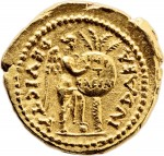 "Gold aureus of Titus, reverse inscribed ""IUDEA DEVICTA"", 70 A.D."