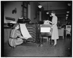 Tabulating machines turning census forms into punchcard data