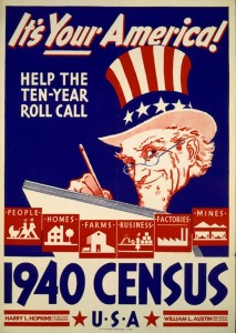 1940 Census advertisement poster