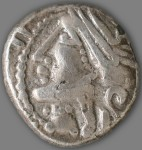 Celtic style helmeted Victory, obverse