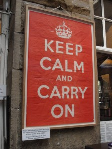 Original 'Keep Calm' poster at Barter Books