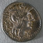 Later model Kaletedou quinarius, Victory on the obverse