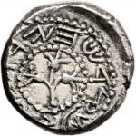 Year 1 prototype silver shekel, obverse, 66 A.D.
