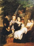 The Héger family in 1846 by Ange François