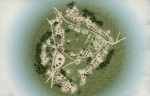 Reconstruction of aerial view of Acy-Romance Gallic village