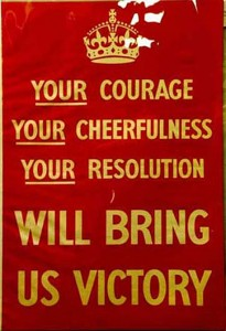 Original 1939 'Your courage' poster