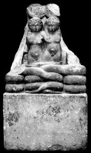 Statue of Shu and Tefnet, possibly Alexander Helios and Cleopatra Selene