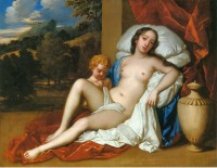 Nell Gwynne as Venus with her son Charles Beauclerk as Cupid, by Sir Peter Lely, ca. 1675