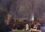 """Master Jan Hus Preaching at the Bethlehem Chapel"""
