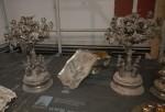Dusty silver candelabras