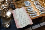 Gilded porcelain-handled flatware