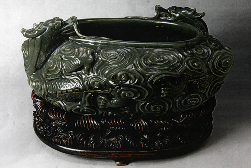 Qin Dynasty Artifacts Qing Dynasty jade bowl