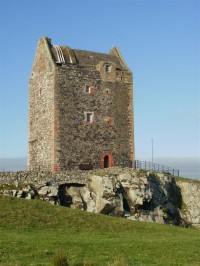 Smailholm Tower with rubble roof