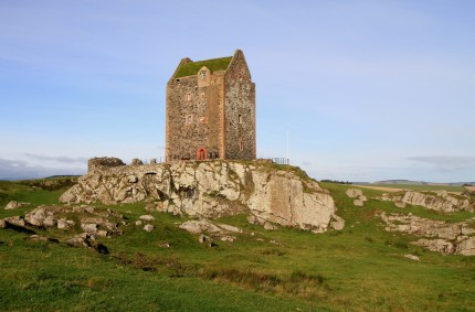 Smailholm Tower with its new living roof