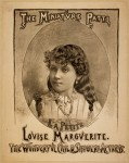 The Miniature Patti, Louise Marguerite the wonderful child singer & actress, 1884