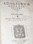 """Adagiorum"" title page"