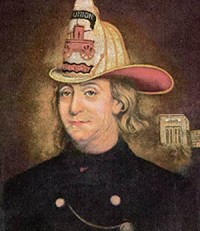 Benjamin Franklin, The Fireman, by Charles Washington Wright, 1850