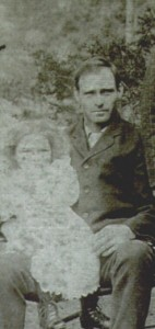Jacob Vowell with his daughter Lillie