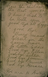 Page of Jacob Vowell's note