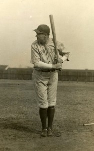 Babe Ruth wearing the jersey at the Yankees' spring training, March 1920