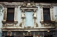 Derelict Sysoev House on Pechatnikov Lane, 1896, plasterwork by original owner P.S. Sysoev, one of the houses on the short list for the lease restoration program