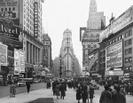 Times Square, January 1938, WPA collection