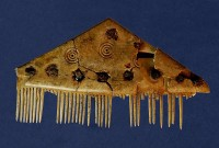 Deer antler comb with runic inscription, ca. 3rd century A.D.