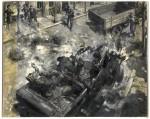 """Assassination of Heydrich"" by Terence Cuneo"