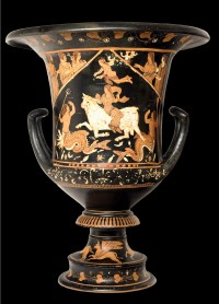 Asteas krater, stolen and sold for $1500 and a suckling pig