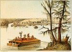 """Bayou Sacra, Luisiana,"" lithograph by Henry Lewis"
