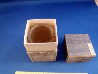 Nikumaroro jar in Dr. Barry&#039;s Freckle Ointment box