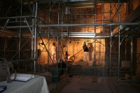 Restorers at work at Santa Maria Antiqua