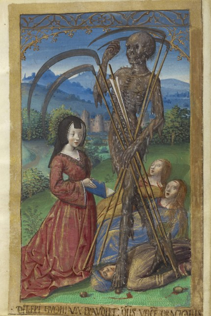 Denise Poncher before a Vision of Death, ca. 1500