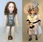 Edison Talking Dolls, clad and unclad